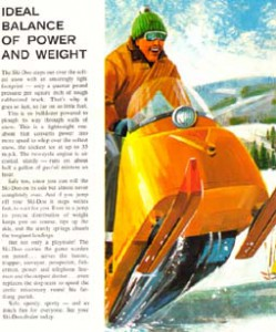 A page from the 1965 Ski-Doo Brochure