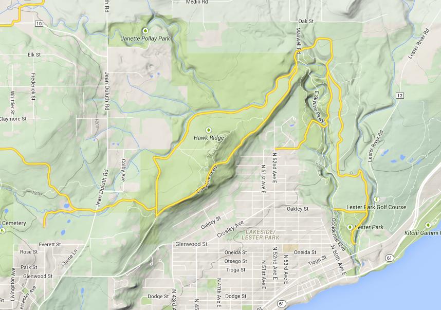 Hawk Ridge Trail Map