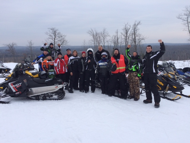 Riders from the ALS Blizzard Tour